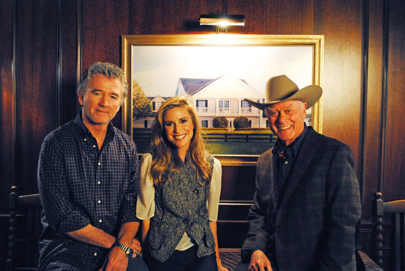 Natalie in with JR Ewing and Bobby